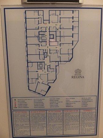 Hotel Regina Barcelona: plan de l'étage