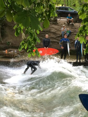 Mike's Bike Tours: Surfing? In Munich? Who knew.