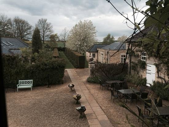 Guyers House Hotel: the view from our window of the lovely courtyard