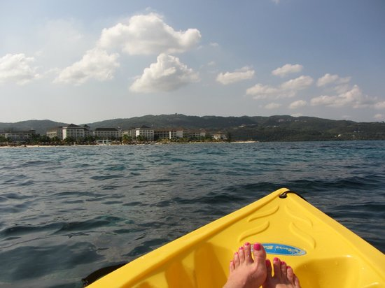 Secrets Wild Orchid Montego Bay : View back to Resort from free two person kayak