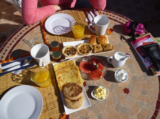 Riad les Orangers d'Alilia Marrakech: Excellent petit déjeuner