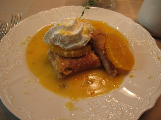 Beaufort House Inn: Breakfast - Citrus Crepes