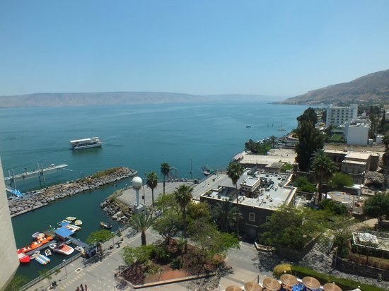Leonardo Plaza Hotel Tiberias: View across sea from balcony