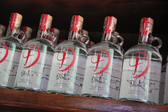 Kiepersol Estates Bed and Breakfast: Dirk's Texas Vodka!  AWESOME!