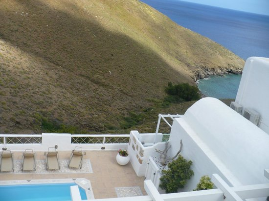 Tholaria Boutique Hotel Astypalaia : view from the room-pool