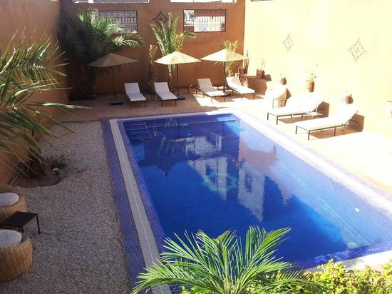 Riad Bouchedor: The pool