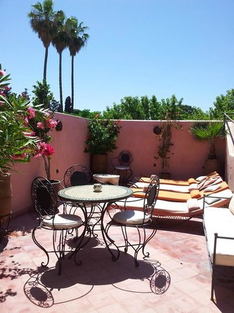 Riad Princesse du Desert: The terrace