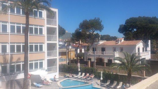 Hotel Hispania : vue de la terasse