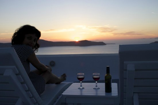 Archontiko Santorini : View from the terrace