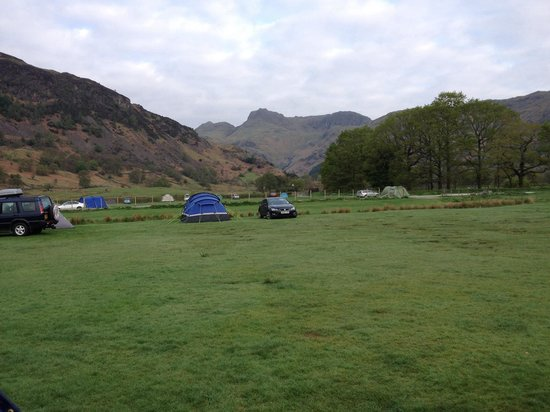Baysbrown Farm Campsite: View up the Langdale valley