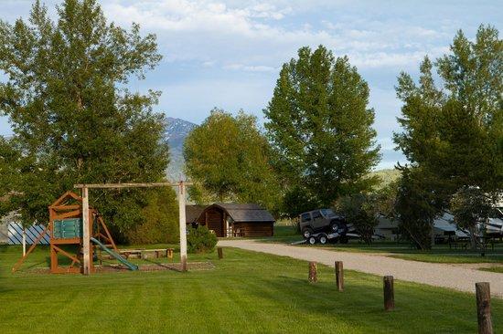Playground at the Teton Valley RV Park