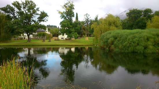 View of Rietspruit Country Cottage from across the Dam