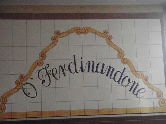 Ristorante Ò Ferdinandone: entrata
