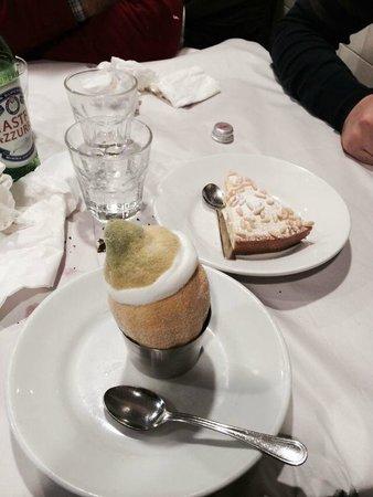 Pizzeria da Baffetto : Sorbetto al limone e torta della nonna