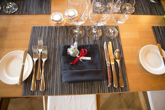 Boutique Hotel Schlüssel: Speisesaal deko
