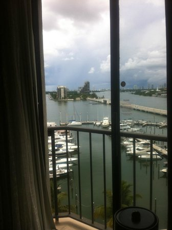 Miami Marriott Biscayne Bay: Janela do quarto