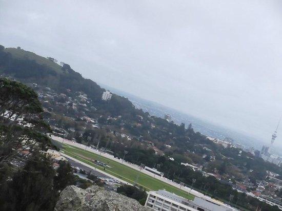 One Tree Hill (Maungakiekie): Auckland city skyline from One Tree Hill