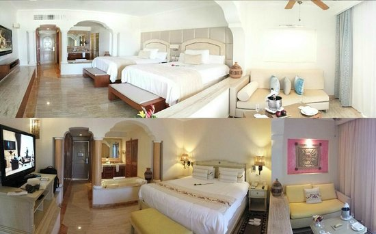 Excellence Riviera Cancun: Comparison of renovated and un-renovated room