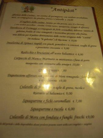 Savio di Ravenna, Italy: Foto al menu