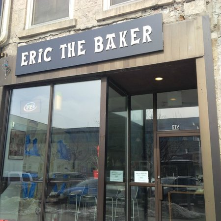 Eric the Baker: Outside of the bakery back in March