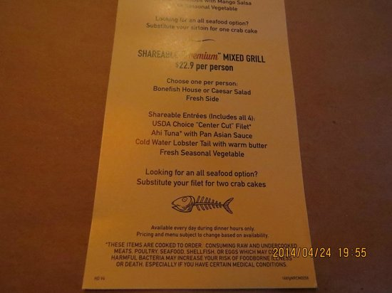 Bonefish Grill: Shareable Premium Mixed Grill