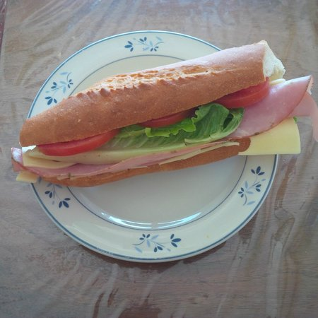 Eric the Baker : Ham and cheese baguette sandwich