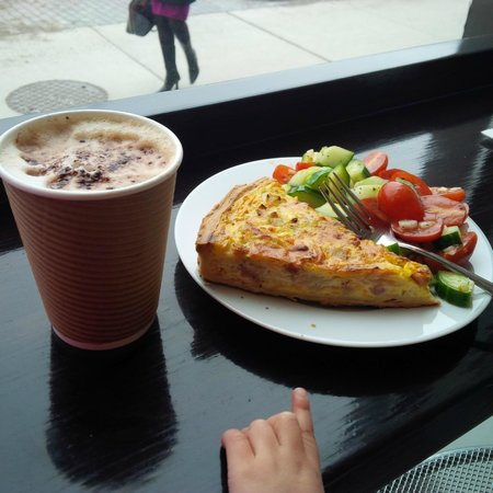 Eric the Baker: The best Quiche Lorraine I have ever had (loved the crust) and cappucino