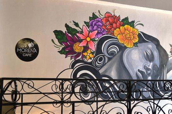 Morena Peruvian Kitchen: Cool mural