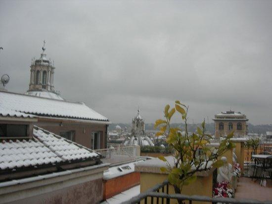 Pace Helvezia Hotel: крыша январь 2012