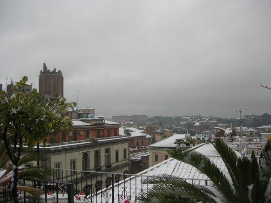 Hotel Pace Helvezia : Рим в снегу