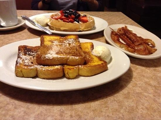 Brownstone Diner & Pancake: Waffles, French Toast and baconnn