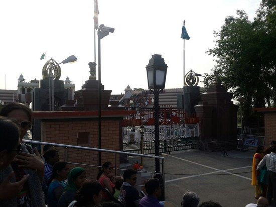 Wagah Border: View from VIP seating.