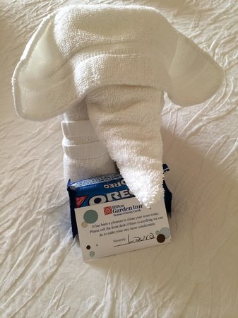Hilton Garden Inn Denver Cherry Creek: Gift from housekeeping