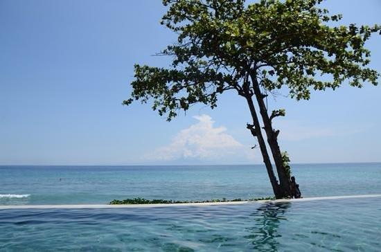 Qunci Villas Hotel: Basseng og hav. Stort bedre blir det vel ikke:-)