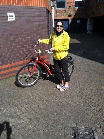 Fat Tire Bike Tours - London: Loved my bike's name (Julie Andrews)
