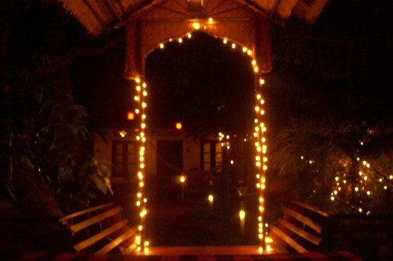 "Vrindavanam Heritage Home: ""Chillaxed"": from inside the communal gazebo"