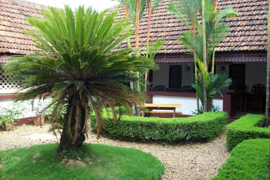 Vrindavanam Heritage Home: The first courtyard