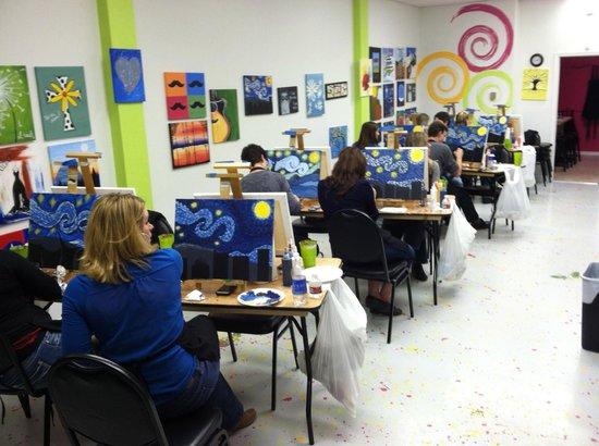 My Masterpiece Parties: Starry Night Class