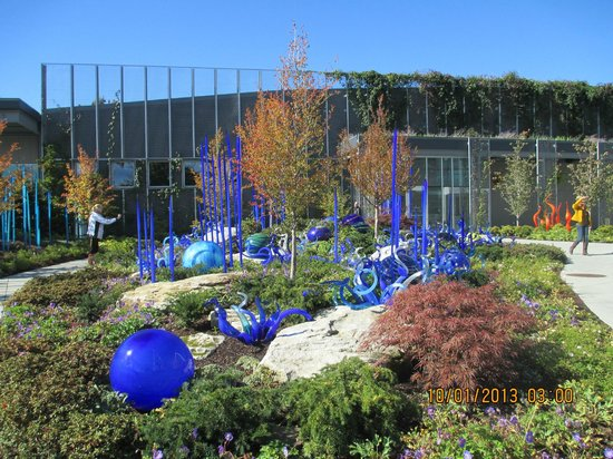 Some of the art in Chihuly Garden and Glass
