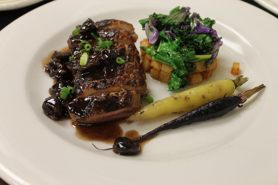 King Hill Kitchen: Charcoaled Duck Breast with Tart Cherry Sauce