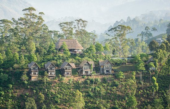98 Acres Resort and Spa : The hotel as seen from Little Adam's peak.