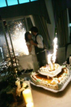 Ristorante Parco Hotel: Sposi - Il momento della torta nuziale