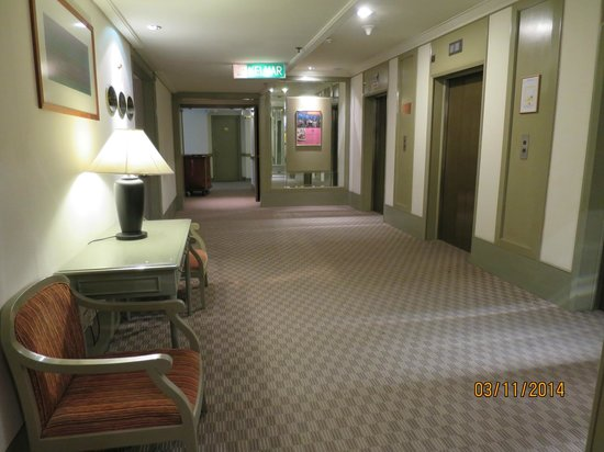 Federal Hotel: The elevator area