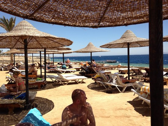 Mexicana Sharm Resort: Shade at the beach, shame only soft drinks on all inc