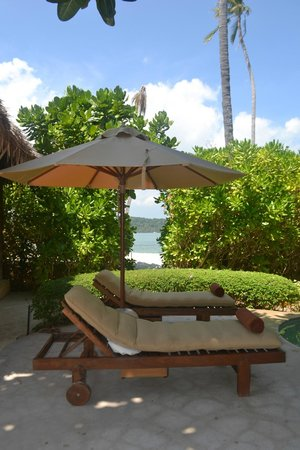The Naka Island, A Luxury Collection Resort & Spa Phuket : View to the beach from Villa 66