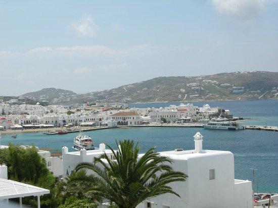 Porto Mykonos Hotel: Port view