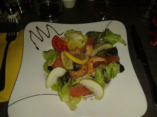 Le Marylou : Salade de crevettes aux agrumes et pomme granny