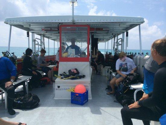 Captain Hook's Marina & Dive Center: heading in