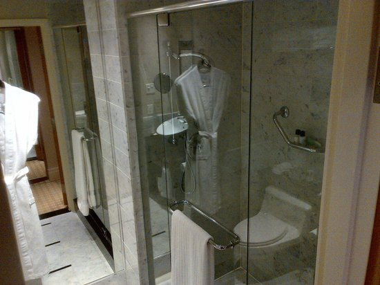 Sofitel Montreal Golden Mile: Shower... with rainfall shower head.  Nice touch