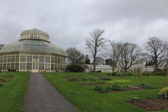 National Botanic Gardens: large glass greenhouses